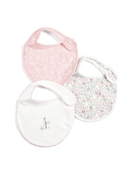mamas-papas-baby-girls-3pk-printed-bibs-pink