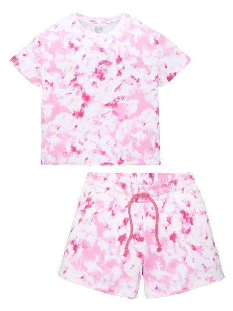 v-by-very-girls-tie-dye-boxy-tee-and-short-set-multi