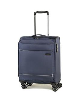 rock-luggage-deluxe-lite-carry-on-8-wheel-suitcase-navy