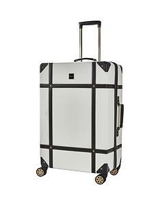 rock-luggage-vintage-large-8-wheel-suitcase-cream