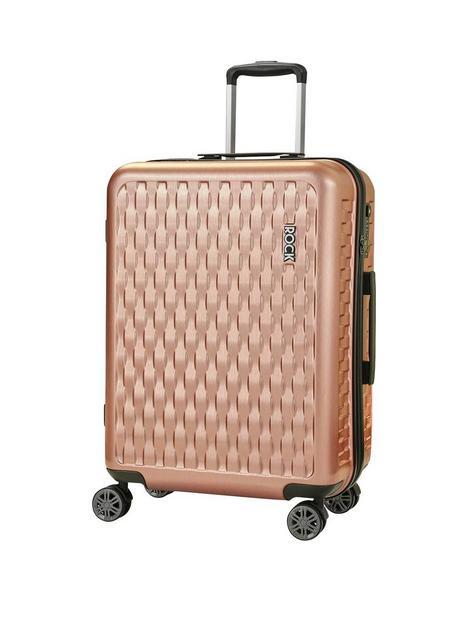 rock-luggage-allure-medium-8-wheel-suitcase-rose-pink