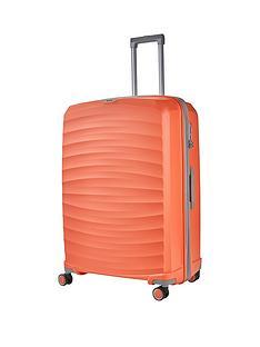 rock-luggage-sunwave-large-8-wheel-suitcase-peach