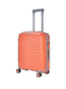 rock-luggage-sunwave-carry-on-8-wheel-suitcase-peach