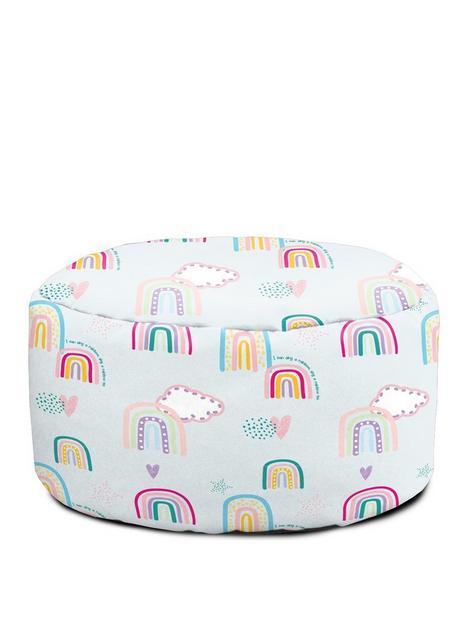 rucomfy-rainbow-sky-childrens-footstool