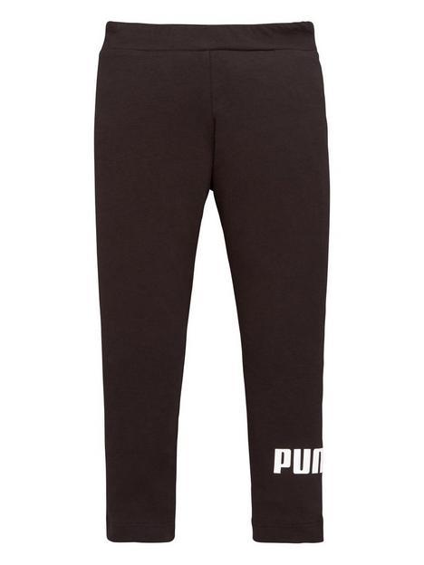 puma-girls-essential-logo-leggings-black