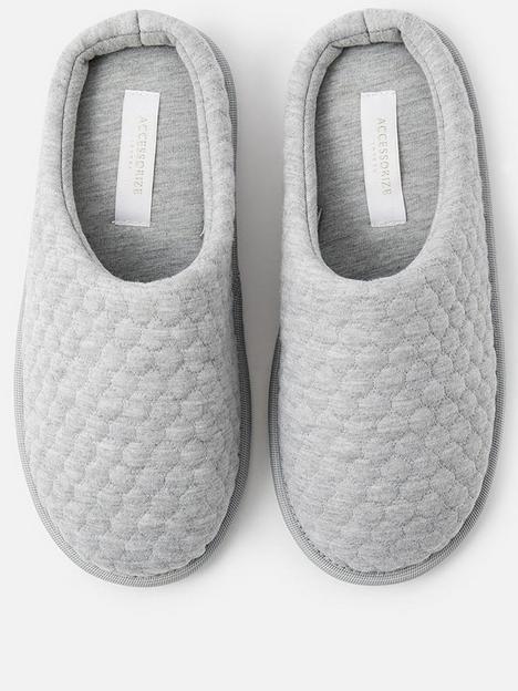 accessorize-bubble-stitch-slipper-grey