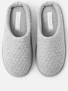 accessorize-bubble-stitch-slipper-grey
