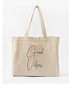 accessorize-good-vibes-slogan-shopper-white