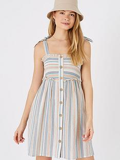accessorize-stripe-button-bandeau-dress-multi