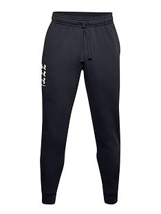 under-armour-trainingnbsprival-fleece-multilogo-joggers-blackwhite