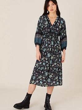 monsoon-black-floral-printed-midi-dress-black