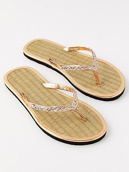 accessorize-plait-thong-seagrassnbspflip-flops-metallic