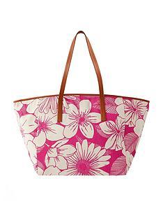 accessorize-perla-print-shopper-pink