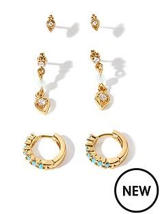 accessorize-z-3x-mixed-turq-earring-set