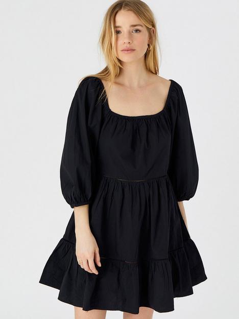 accessorize-puff-sleeve-poplin-dress