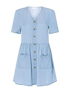 accessorize-chambray-mini-dress-blue