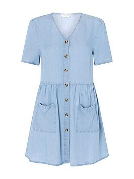 accessorize-chambray-mini-dress-blue