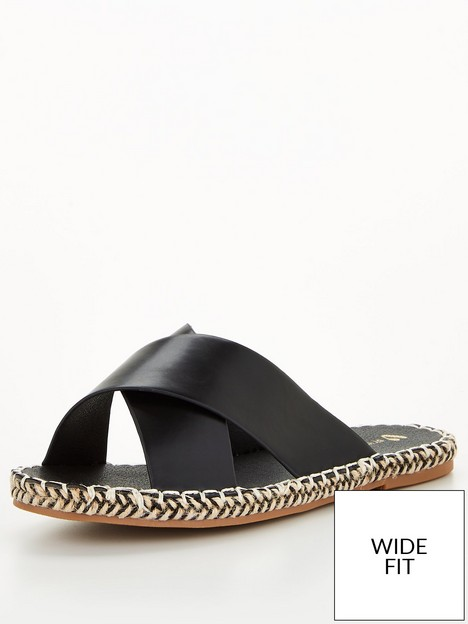 v-by-very-wide-fitnbspcross-strap-espadrille-slider-black