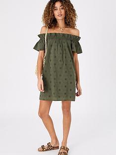 accessorize-schiffli-bardot-beach-dress-khaki