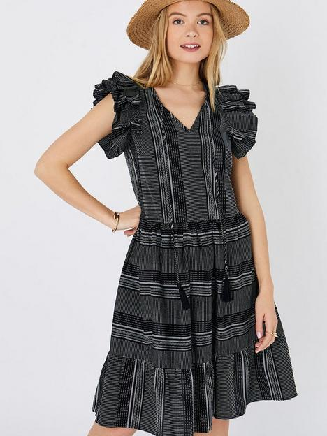 accessorize-frill-shoulder-stitchnbspdress