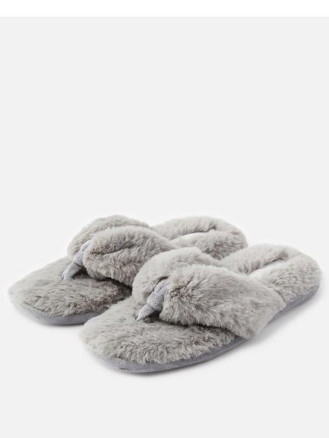 accessorize-laura-thong-slipper-grey