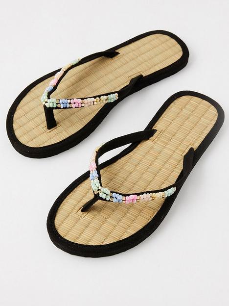 accessorize-multi-coloured-beaded-seagrass-flip-flops-multi