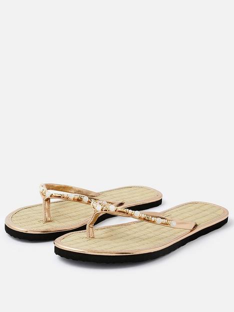 accessorize-embellished-seagrass-flip-flopsnbsp--gold