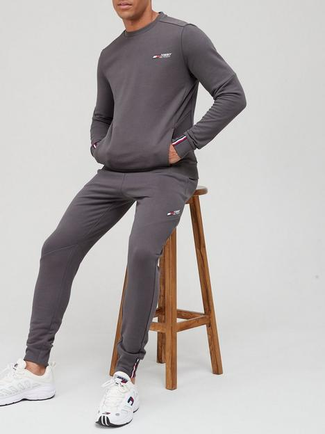 tommy-sport-terry-crew-sweat-topnbsp--grey