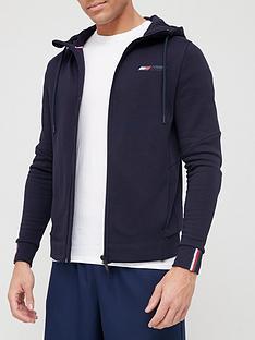 prod1090343614: Sport Logo Fleece Full Zip Hoodie- Navy