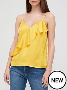 ted-baker-cami-with-a-symmetric-frill-yellownbsp