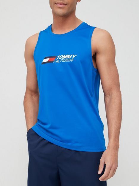 tommy-sport-sport-essential-training-tank-blue
