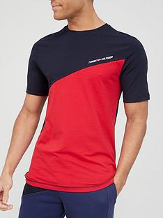 tommy-sport-colour-block-t-shirt-red