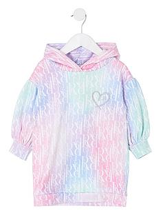 river-island-mini-mini-girls-monogram-sweat-dress-pink
