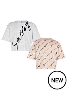river-island-girls-2-pack-sassy-cropped-t-shirt--nbsppinkwhite