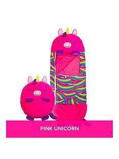 happy-nappers-pink-unicorn-sleeping-bag-large