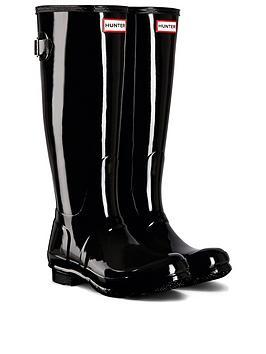hunter-original-back-adjustable-gloss-wellington-boot-black