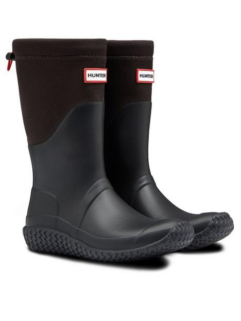 hunter-original-packable-short-wellington-boot-black