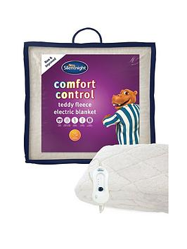 silentnight fleece comfort control electric blanket. Black Bedroom Furniture Sets. Home Design Ideas