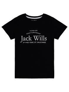 jack-wills-girls-script-t-shirt-black