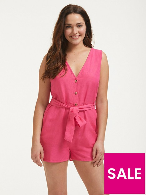 figleaves-button-down-sleeveless-playsuit-hot-pink