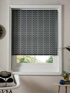 orla-kiely-house-linear-stem-cool-grey-roller-blind-grey