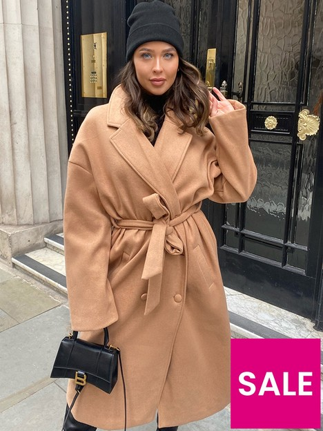 in-the-style-in-the-style-x-naomi-genesnbspwool-double-breasted-belted-longline-coat-tan
