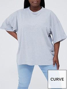 missguided-plus-missguided-plus-drop-shoulder-t-shirt-grey