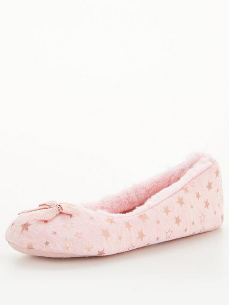 v-by-very-star-ballerina-slipper-pink