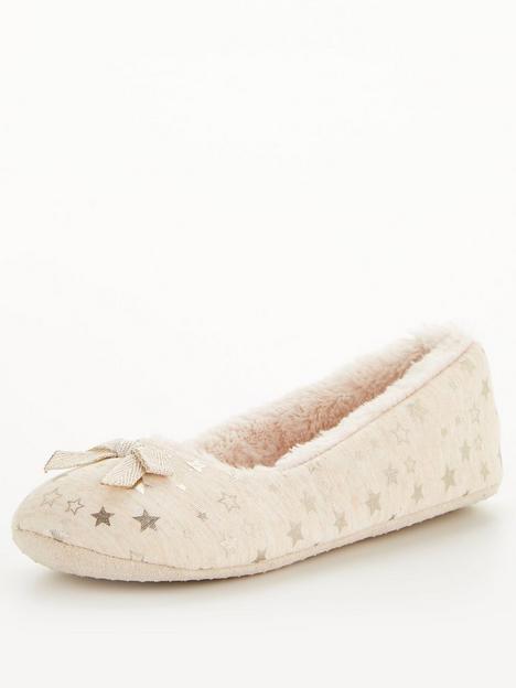 v-by-very-star-ballerina-slipper-beige