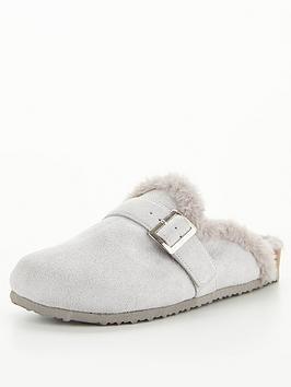v-by-very-villa-mule-footbed-slipper-grey