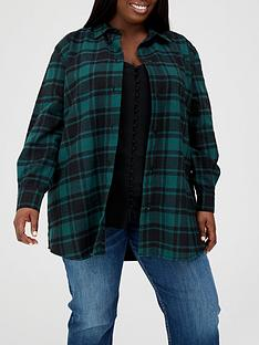 v-by-very-curve-oversized-check-shirt-green-checknbsp