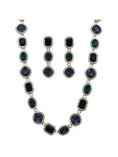 mood-mood-gold-plated-green-crystal-halo-necklace-and-earring-set