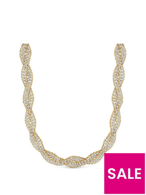 mood-gold-plated-crystal-plait-collar-necklace