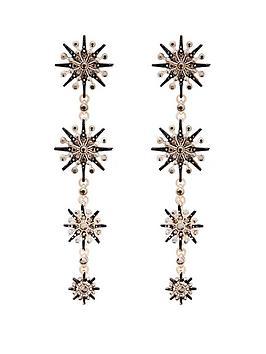 mood-rose-gold-plated-jet-crystal-starburst-linear-drop-earrings